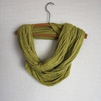 Chartreuse Infinity Scarf - Green Scarf - Holiday Accessories - Christmas scarf