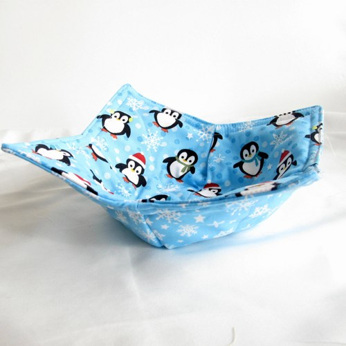 Microwave Potholder Bowl Cozy Penquin And From Metal