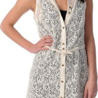 Volcom Not So Classic Cream Lace Shirt Dress at Zumiez : PDP