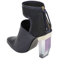 Miista Women's Debora Perspex Leather Heeled Boots - Navy Clothing - FREE UK Delivery
