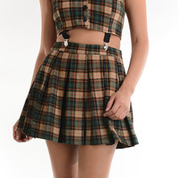 Plaidin' It Cut Out Suspender Dress | Bloody-Fabulous