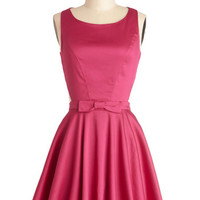 Classic Twist Dress in Magenta