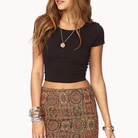 Tapestry-Inspried Mini Skirt