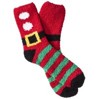 Women's Holiday Crew Slipper Socks - Assorted Colors/Patterns One Size Fits Most