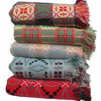 Jen Jones Welsh Quilts & Blankets - Fringed Tapestry Blankets