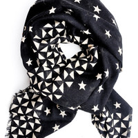 Stars & Diamonds Wool-Silk Scarf | LEIF