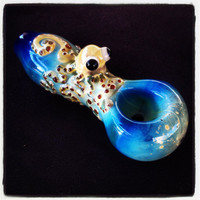 Octopus Critter Hand Blown Glass Pipe