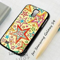 Vintage star layer - design case for Samsung Galaxy S4
