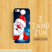 CHRISTMAS iPhone 5 case SANTA CLAUS iPhone 4s case iphone 5s case Galaxy S4 S3 Cover personalized phone case cat iphone case Snow man