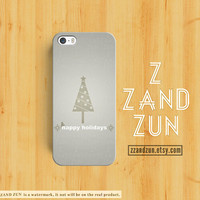 CHRISTMAS iPhone 5 case HAPPY HOLIDAYS iPhone 4s case Tree iphone 5s case Galaxy S4 S3 Cover personalized pine phone case iphone case
