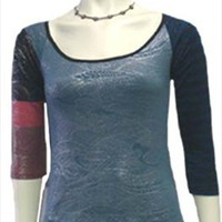 Designer Custo Barcelona Metallic Top