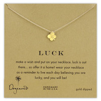 Dogeared 'Luck' Boxed Clover Pendant Necklace