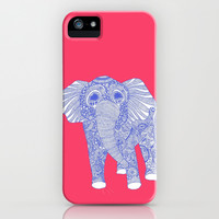 ornate Ellie in blue iPhone & iPod Case by lush tart
