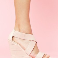 Bound Platform Wedge - Blush in Shoes at Nasty Gal
