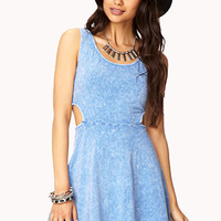 Acid Wash Skater Dress