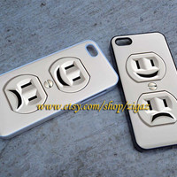 Electric Outlet iPhone 5C Case, iPhone 5S Case, iPhone 5 Case, iPhone 4/4S Case, Samsung Galaxy S3 and S4 Case, Durable Hard Case