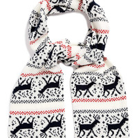 REINDEER PATTERN SCARF - New In - TOPMAN USA