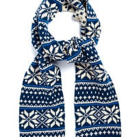 BLUE 'SKI' SCARF - New This Week - New In - TOPMAN USA