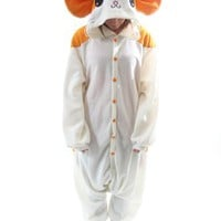 BCozy Kigu Unisex Animal Costume Pajama Onsie Adult: Hamster Z Select Size: One Size Fits Most