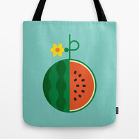 Fruit: Watermelon Tote Bag by Christopher Dina