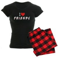 I heart Friends TV Show Women's Dark Pajamas Women's Dark Pajamas by CafePress