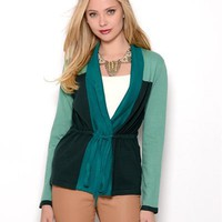 Elio Belted Colorblock Cardigan - Elio $19 And Under - Modnique.com