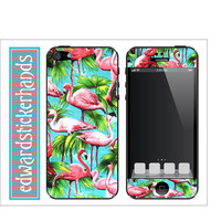 Flamingo Pattern iPhone Skin