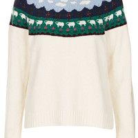 Knitted Sheep Yoke Jumper