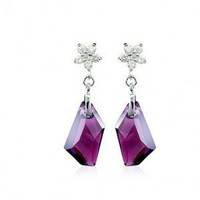 Wishing For Love Stone / Purple Earrings