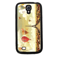UP ballooning over paris Samsung Galaxy S4 Case Samsung Galaxy S4/S3 Personalized beautiful Fashion Samsung Galaxy S3 Cases skin cover
