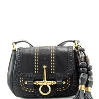 Gucci Genuine Leather Studded Shoulder Bag with Tassels- Made In Italy - Gucci - Modnique.com