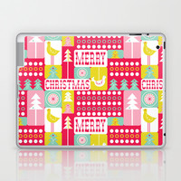 Festive Christmas Collage Laptop & iPad Skin by Heather Dutton