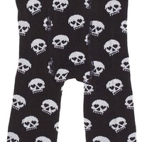 Sourpuss Black & White Skull Baby Leggings Kids Clothing at Broken Cherry