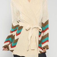 Missoni Acrylic Cardigan, Cream