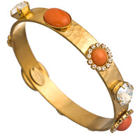 Liz Palacios Orange Caboche and Crystal Bangle Bracelet - Max & Chloe