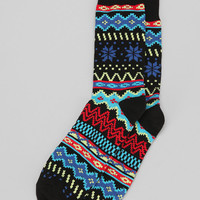 Bright Fair Isle Camp Sock - Urban Outfitters