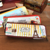 Vintage Collage Pen Case