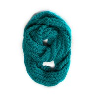 AEO CHUNKY CABLE KNIT LOOP SCARF