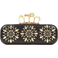 ALEXANDER MCQUEEN - Knucklebox studded flower clutch | Selfridges.com