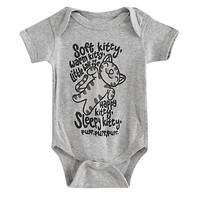 The Big Bang Theory Soft Kitty Baby Bodysuit
