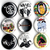 Wavves button set of 8 pinbacks 1""