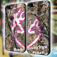 Love Browning Deer Camo Real Tree Love Couple Design iPhone 4, iPhone 4s, iPhone 5 / 5s / 5c, Samsung Galaxy S3, Sasmsung Galaxy S4 Case