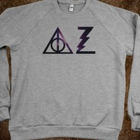 "DELTA ZETA HARRY POTTER-INSPIRED GALAXY PRINT WITH BACK ""ALWAYS"" TEXT"