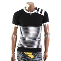 Doublju Mens Casual Short Sleeve T-shirts(T9719)