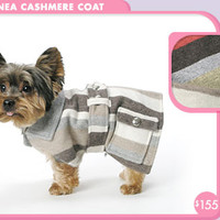 Linea Cashmere Coat dog Pet Apparel - Fall Coats + Rain Gear - Winter Coats + Outerwear - trixie + peanut