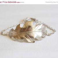 ON SALE Silver Leaf Bracelet,Bracelet,Silver Leaf Jewelry,Fall Leaf Jewelry,Autumn,Bride,Wedding.