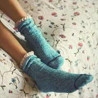 Free People Womens Heathered Highland Boot Sock -
