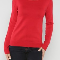 Bows Back Sweater, Red