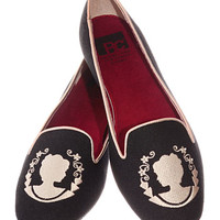 Victorian Cameo Smoking Slipper Flats