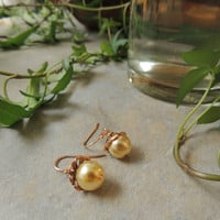 Beautiful Elegant Pearl Dangle Earrings